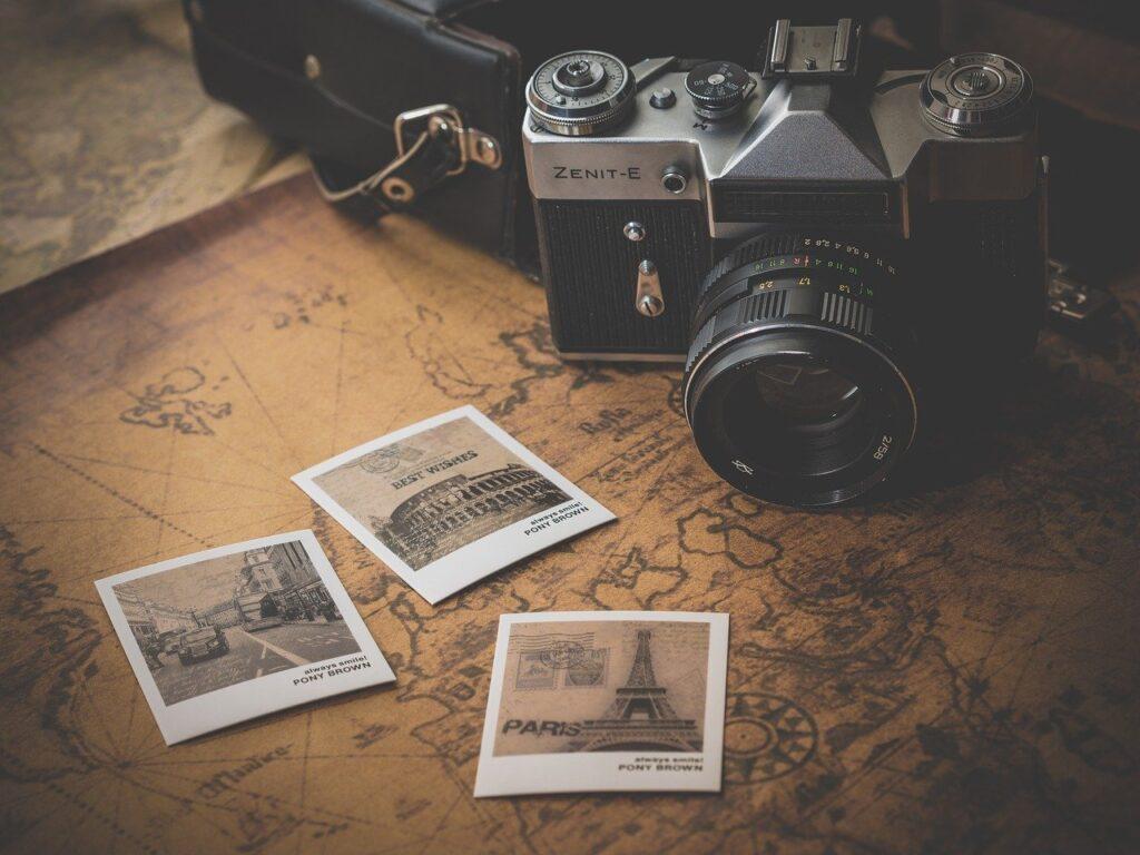 camera, photographs, souvenir
